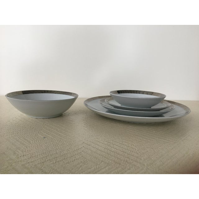 1960s Vintage Mikasa Silver Plated Dinnerware Set With Serving Pieces, Place Settings for 6 - 53 Pieces For Sale - Image 5 of 13