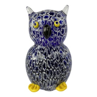 Mid-Century Glass Owl For Sale