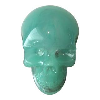 Boho Chic Green Glass Skull