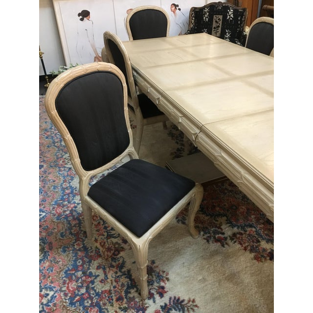 Washed Wood Dining Table & Chairs - Set of 7 - Image 6 of 7