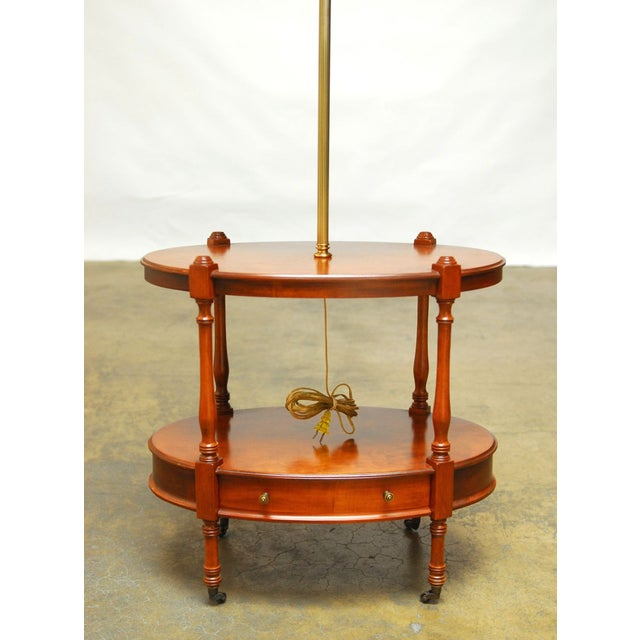 Frederick Cooper Two-Tier Side Table with Lamp - Image 3 of 7