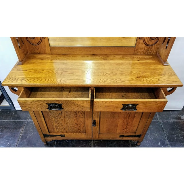 Early 20th Century Early 20th Century Antique Shapland & Petter William Cowie Arts & Crafts Oak Sideboard For Sale - Image 5 of 11