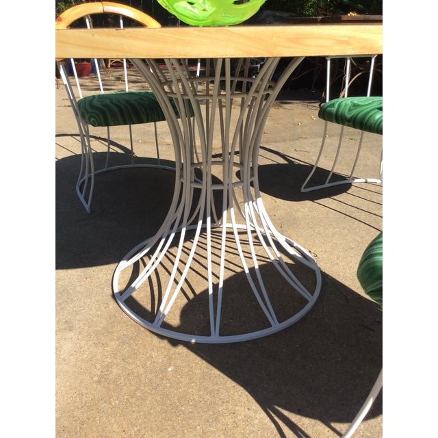 Restored Mid-Century Platner Style Round Table & Chairs For Sale - Image 10 of 12