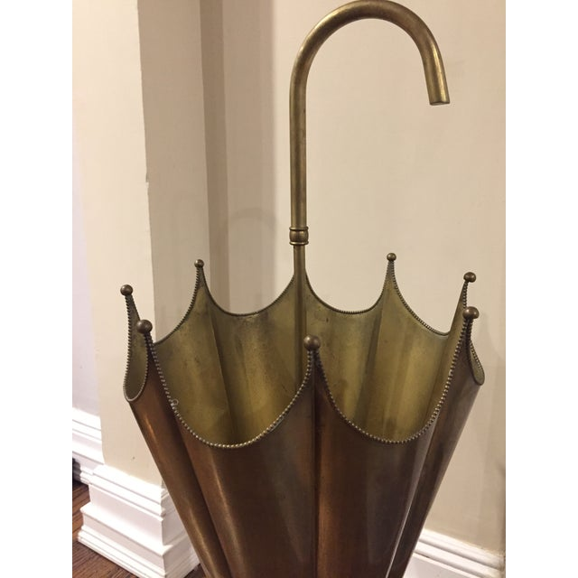 Mid-Century Brass Umbrella Stand - Image 3 of 5