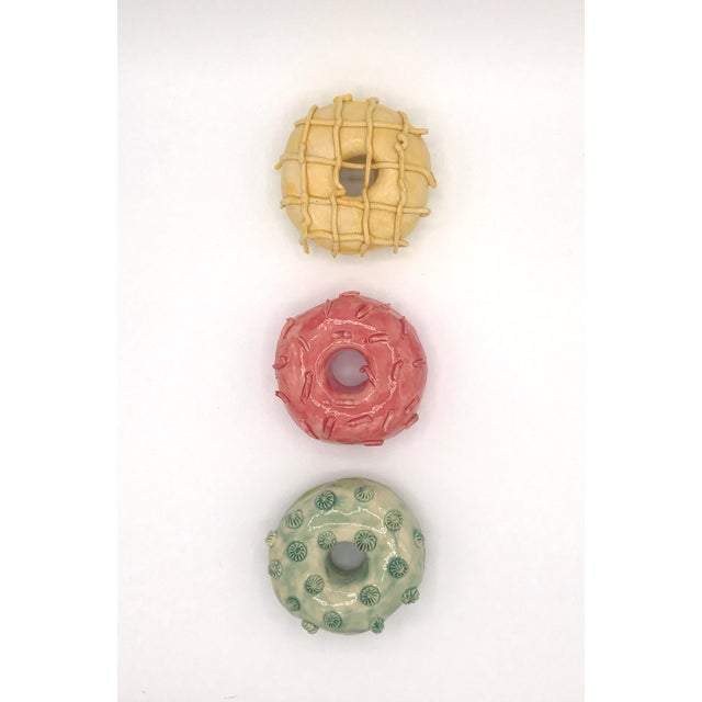 Pop Art Ceramic Wall Donuts - Set of 3 For Sale - Image 10 of 10