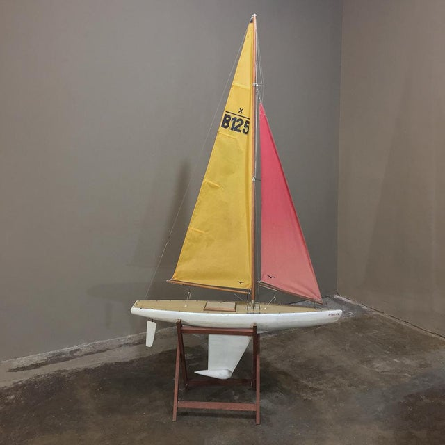 Mid-Century Scale 12 Meter Racing Yacht For Sale - Image 11 of 11