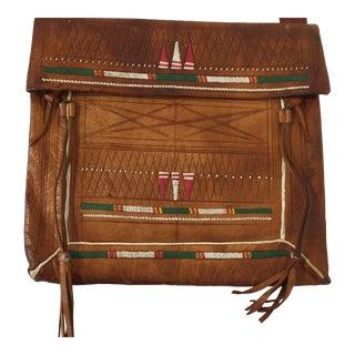 African Tuareg Moroccan Shoulder Leather Bag For Sale