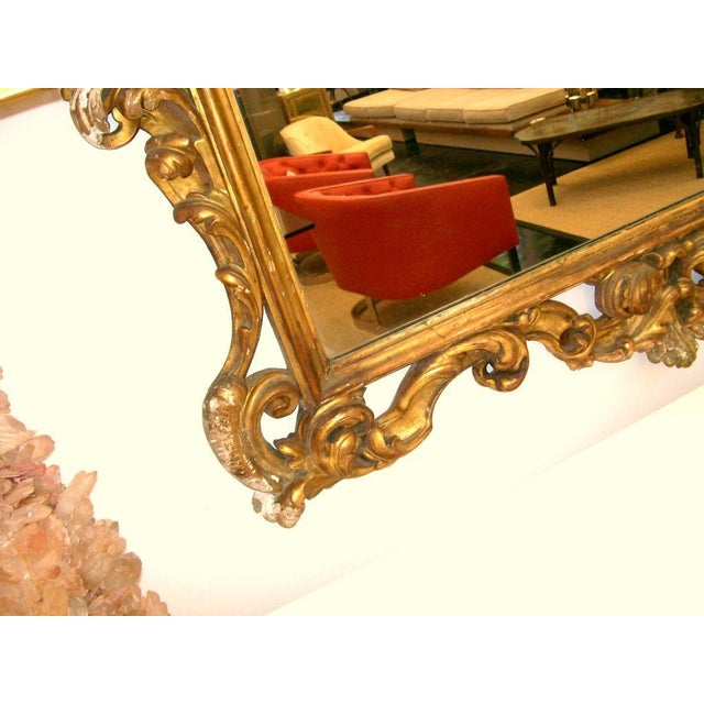 1930s Gold Gilt Carved Wood Palatial Mirror For Sale - Image 5 of 6