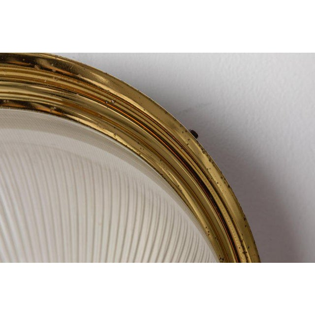 1960s Sergio Mazza Brass & Glass Wall or Ceiling Lights for Artemide - A Pair For Sale - Image 11 of 13