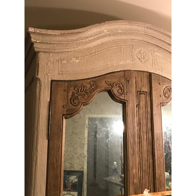 Acid Wash Mirrored Armoire For Sale - Image 9 of 12