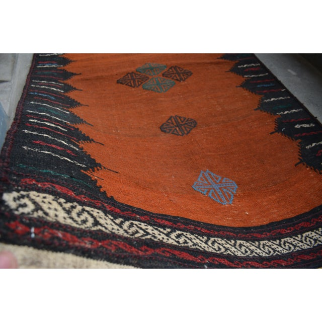 This beautiful Kilim will add a stunning design accent to your home. This is made by 100% wool and tightly hand knotted....