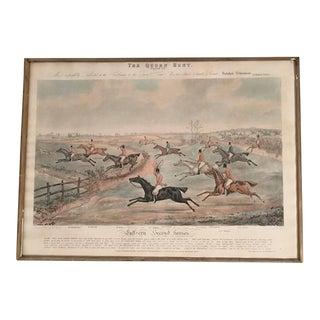 Set of 8 Quorn Hunt Prints by Ackermann, English, circa 1835