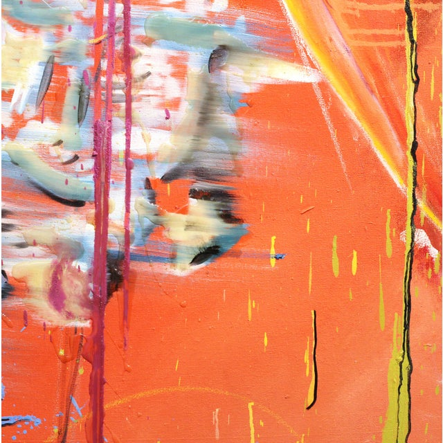 "Abstract Expressionism ""Just a Minute While I Reinvent Myself"" Original Painting by Ash Almonte For Sale - Image 3 of 8"