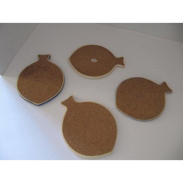 Nautical Ceramic Fish Coasters - Set of 4 For Sale - Image 3 of 3