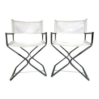 1970's Milo Baughman Director Chairs ~ a Pair For Sale
