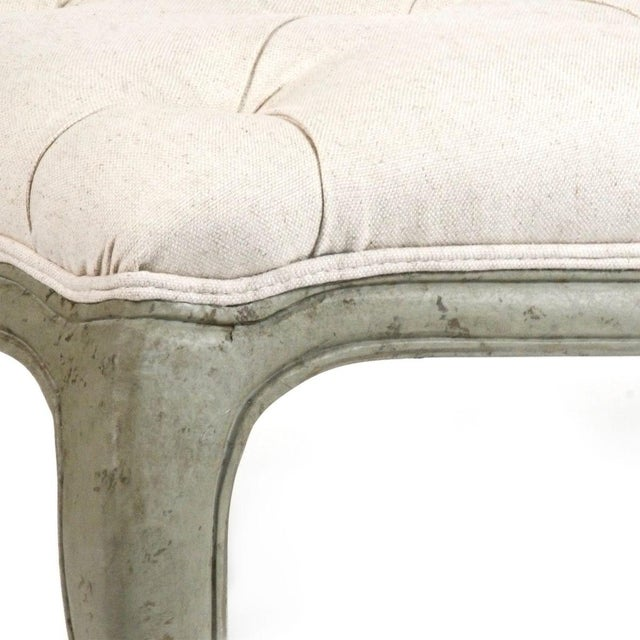 Hollow Maison Tufted Ottoman in Off-white For Sale - Image 4 of 5