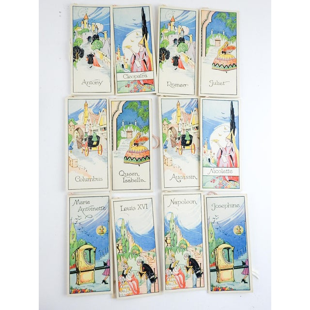 Circa 1920's boxed set Romance Series vintage bridge tally cards by Charles S. Clark Co. Lovely costumed ladies &...