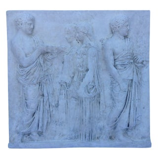 Vintage Hollywood Regency Greco-Roman Sculptural Wall Art For Sale