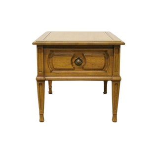 20th Century French Country Thomasville Furniture Cote Dor End Table For Sale