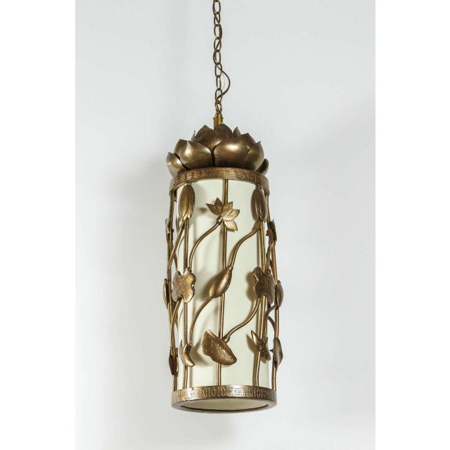 Brass Lotus Pendant - Image 2 of 10