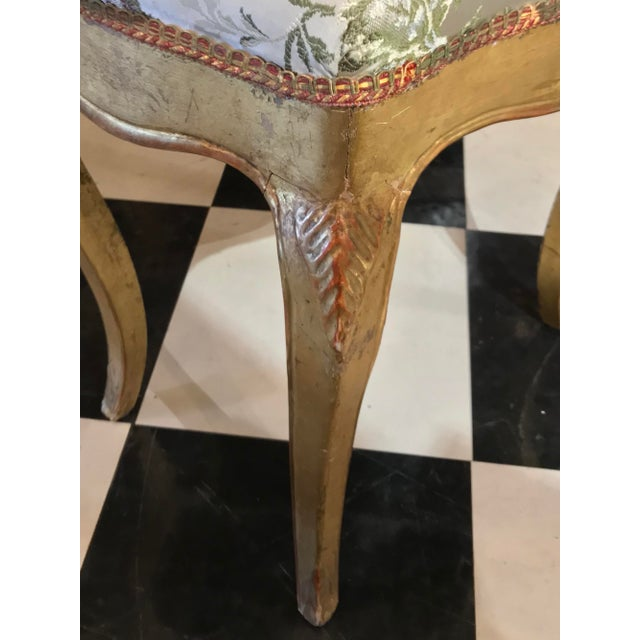 19th Century 19th C. Vintage Gilt Wood Stool For Sale - Image 5 of 6