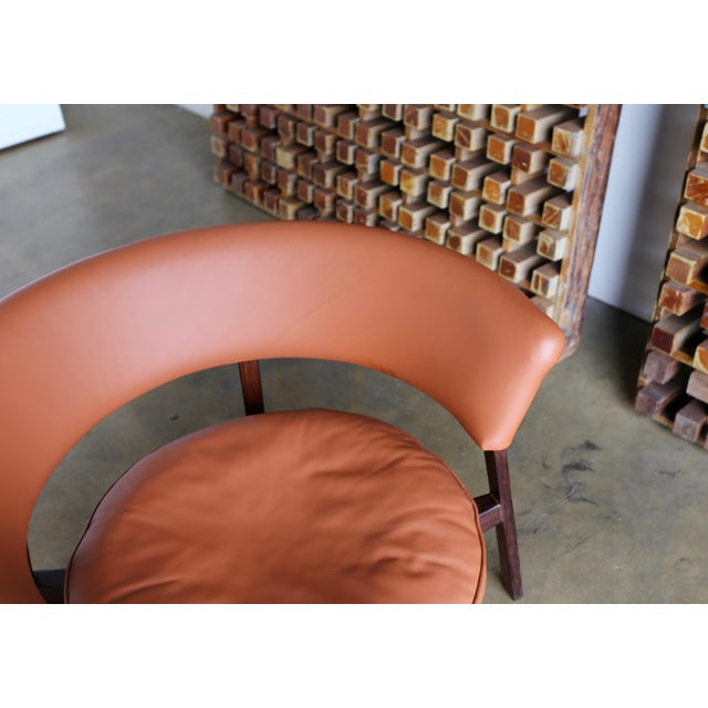 Animal Skin Vintage Mid Century Rare Eugenio Gerli P28 Lounge Chair for Tecno For Sale - Image 7 of 12