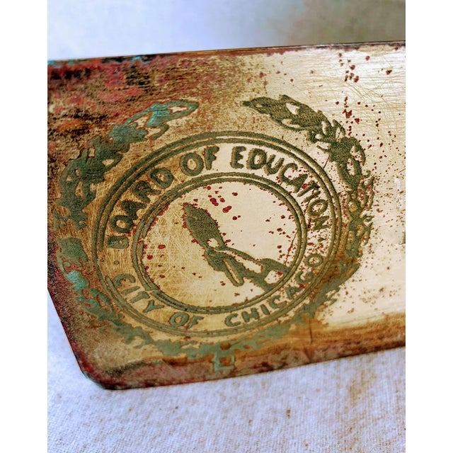 Industrial Vintage Industrial Brass Sign- City of Chicago Education Psychologist For Sale - Image 3 of 6