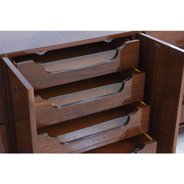 Georg Kofoed Danish Modern Rosewood and Silver Inlaid Sideboard, 1950s For Sale In Miami - Image 6 of 9