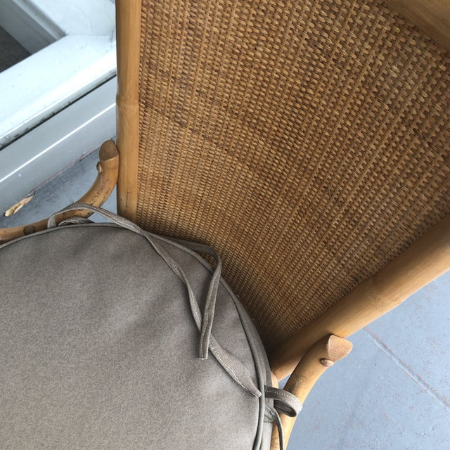 1970s Vintage Pagoda Style Rattan Dining Chairs- Set of 4 For Sale - Image 9 of 12