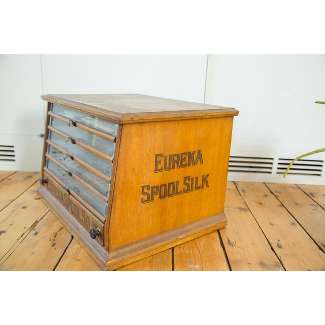 Antique Victorian Eureka Silk Spool Cabinet - Image 7 of 8