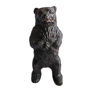 1950s Bear Figure Screw Back Money Bank For Sale