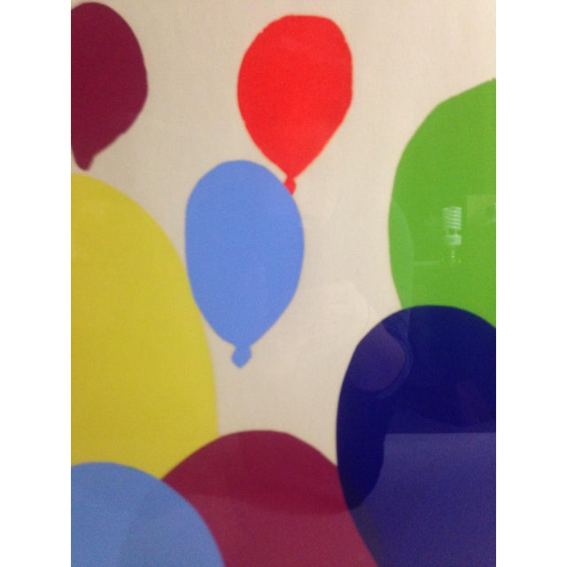 Abstract Colorful Balloon Screen Print For Sale - Image 3 of 5