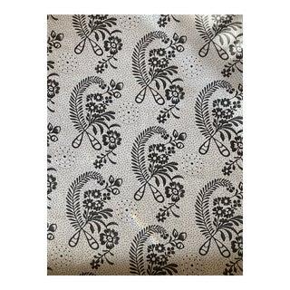 Schumacher Millicent Blackwork Linen Fabric 2 Yards For Sale
