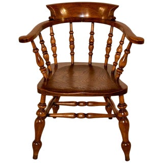 19th Century English Captain's Chair For Sale