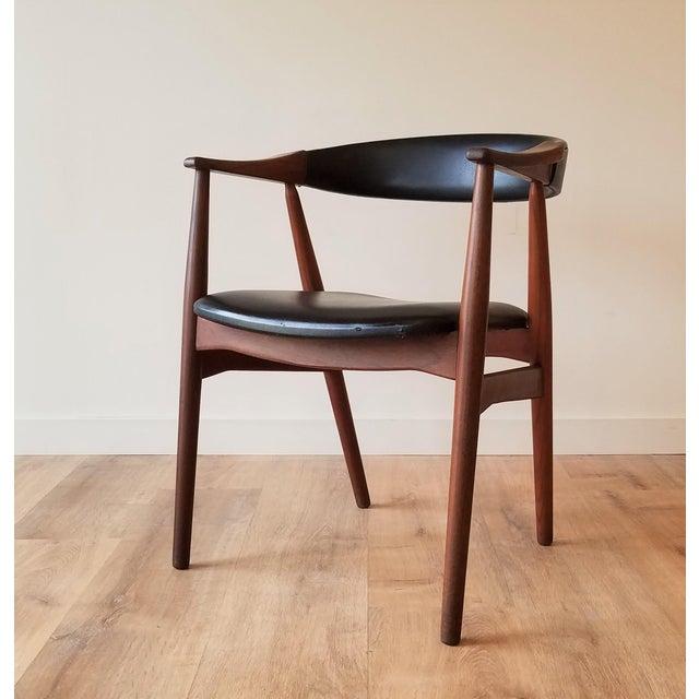 Thomas Harlev Model 213 Side Chair in Teak and Black Leatherette for Farstrup Møbler For Sale - Image 12 of 12