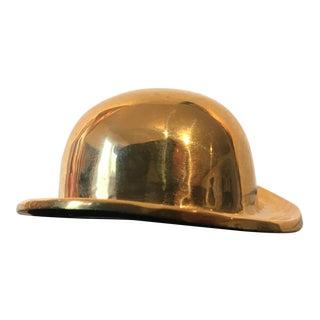1980s Americana Brass Bowler Hat Shaped Bottle Opener