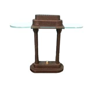 1980s Industrial Robert Sonneman for George Kovacs Style Metal Bankers Light For Sale