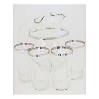MacBeth-Evans Platinum Band Tumblers and Pitcher - Set of 5 Preview