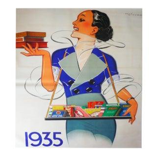 1935 Original French Art Deco Poster, Regie Francaise For Sale
