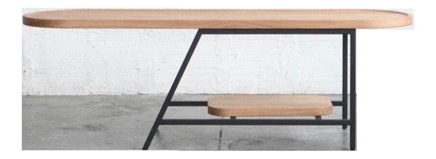 Mid Century Modern Cream Oak Coffee Table Chairish