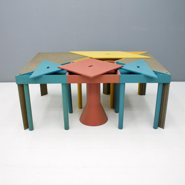 Set of Six Tangram Tables by Massimo Morozzi for Cassina, 1983 For Sale - Image 9 of 11