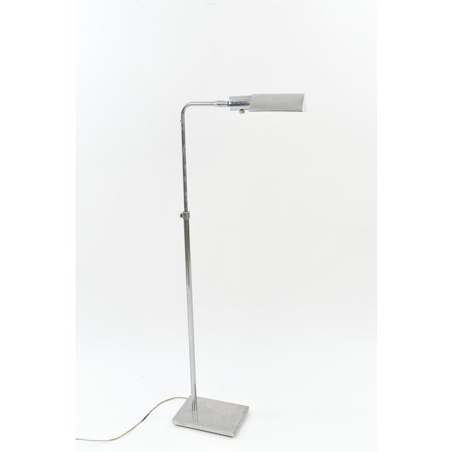 Mid-Century Modern Koch and Lowy Metal Pharmacy Reading Lamps - a Pair For Sale - Image 3 of 7