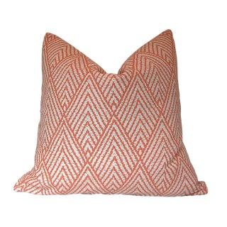 Tahitian Stitch Tangerine Custom Pillow Cover