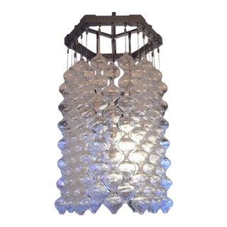 1960s Mid-Century Modern Kalmar Austrian Blown Glass Chandelier For Sale