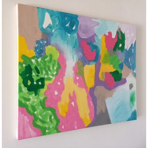 A colorful and casual abstract rendering of an imagined fruit tree.