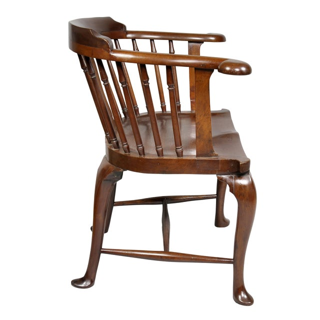 Wood George III Mahogany Captains Armchair For Sale - Image 7 of 10