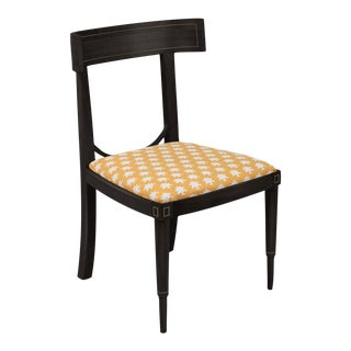 Aegean Klismos Chair with Brass Inlay For Sale