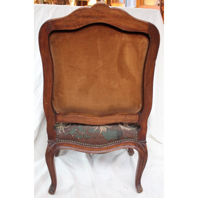 French Louis XV Walnut Arm Chair - Image 9 of 10
