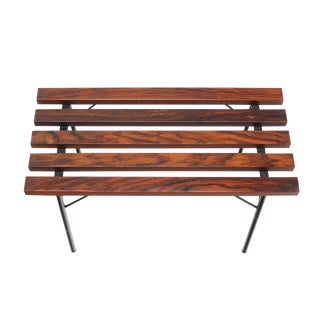 Small Slat Rosewood Bench For Sale