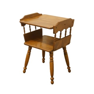 20th Century Early American Solid Hard Rock Maple Accent Table For Sale